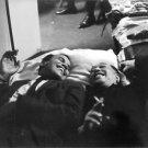Harry Belafonte and Duke Ellington lying down. - 8x10 photo