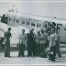 Swedish football team getting off from the airplane, standing together. June 193