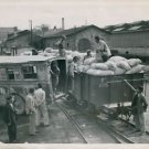 World War II. United nations flour arrives in Greece - 8x10 photo