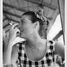 Ava Gardner smoking. - 8x10 photo