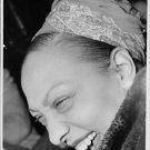 Close up of Josephine Baker, laughing.  - 8x10 photo