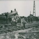 Soldiers fixing the railway track during WWI. - 8x10 photo