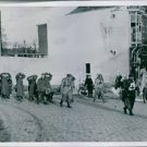 U.S. soldiers search a group of German prisoners into Venlo following its libera