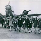 200 French children crossing the tarmac. - 8x10 photo