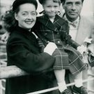 Bette Davis with her Husband and Barbara - 8x10 photo