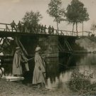 World War I- German Soldiers fishing - 8x10 photo