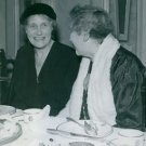 Elsa Brandstrom eating with woman. 1945. - 8x10 photo