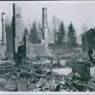 War damages after the Germans bombing in Norway. 1940 - 8x10 photo