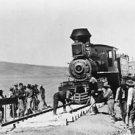 Building the railroad - 8x10 photo