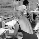 Anita Ekberg on boat. - 8x10 photo