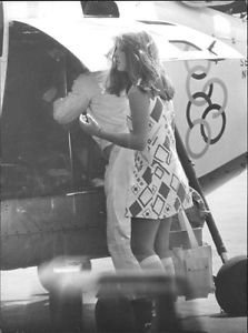Caroline Kennedy waiting.  - 8x10 photo