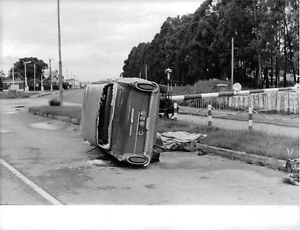 A car met with an accident in Kongo. - 8x10 photo