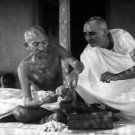 Mahatma Gandhi with a man - 8x10 photo