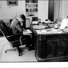 John F. Kennedy reading. - 8x10 photo