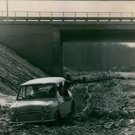 As the crow flies: The autostrada is very far from completion, lane is impassabl