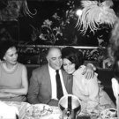 Sophia Loren smiling with Carlo Ponti, in Paris after their wedding. - 8x10 phot