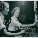 Wren working on a switchboard. England, 1942. - 8x10 photo