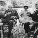 Winston Churchill while drinking. - 8x10 photo