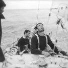 Eric Tabarly looking up. - 8x10 photo