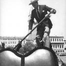 Gary Cooper rowing.  - 8x10 photo