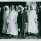 Sultan Mulai Muhammad with men on 28 July 1928.  - 8x10 photo