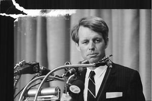 """Robert Francis """"Bobby"""" Kennedy delivering speech. - 8x10 photo"""