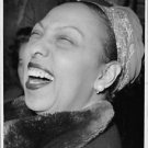 Josephine Baker laughing out hardly. - 8x10 photo