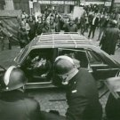 Cops around a car and woman crying in it, Sorbonne 1968. - 8x10 photo
