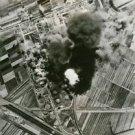 Oil tanks bombed in Italy - 8x10 photo