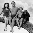 Johnny Weissmuller and Maureen O'Sullivan in Tarzan's Secret Treasure. - 8x10 ph