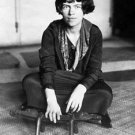 Margaret Mead sitting on the floor. - 8x10 photo