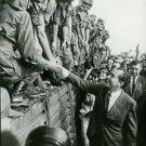 Richard Nixon meets the troops - 8x10 photo