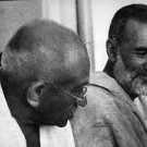 Mahatma Gandhi and a man - 8x10 photo