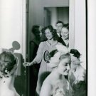 A French Director of Ballet, Janine Charrat in the room with the dancers. - 8x10