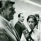 Ronald Reagan smiling. - 8x10 photo