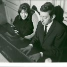 Juliette Greco with Serge Gainsbourg at the piano. - 8x10 photo