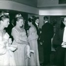 Count of paris with daughters Isabelle and Anne at party. - 8x10 photo