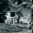 Ingrid Bergman in park.  - 8x10 photo