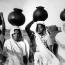 Women bearing a pitcher of water on their heads  - 8x10 photo