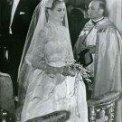 Grace Kelly in wedding dress.  - 8x10 photo