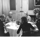 Georges Jean Raymond Pompidou having dinner with family. - 8x10 photo