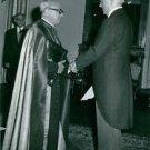 Konstantinos G. Karamanlis presenting his credential to Monsignor Giovanni Maria