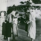 His Majesty King Bhumibol Adulyadej of Thailand with an old man. 1960. - 8x10 ph
