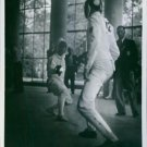 """Fencers fighting as a scene from the 1938 German documentary film, """"Olympia"""". -"""