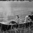 "Birger Malmsten and Maj-Britt Nilson boating in the movie ""Sommarlek"". - 8x10 ph"