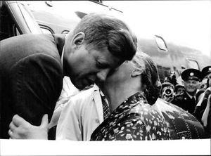 John F. Kennedy with lady. - 8x10 photo