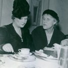 Elsa Brandstrom siting with woman at dining table, 1945. - 8x10 photo