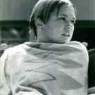 Deborah Elizabeth Meyer covering her self with towel, sitting.  - 8x10 photo