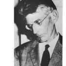 Samuel Beckett looking down. - 8x10 photo