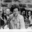 Queen Fabiola surrounded by people. - 8x10 photo